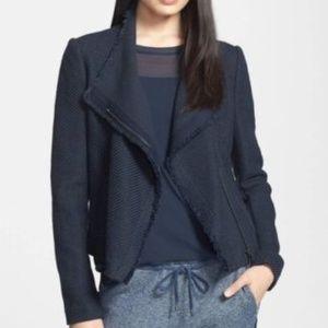 VINCE !! Women's Jacket Frayed Edge Tweed